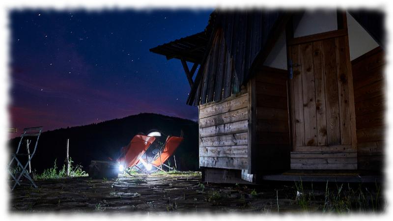 Dome exterieur nuit chaise longue cevennes